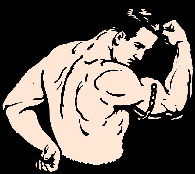 svalnatý muž ilustrace