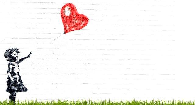 grafity, dítě se srdcem